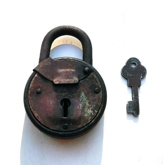 Soviet vintage padlock with key 35