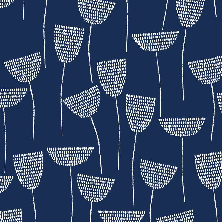 153312 Stitch Stem | Navy Double Gauze from Threads by Eloise Renouf for Cloud9 Fabrics