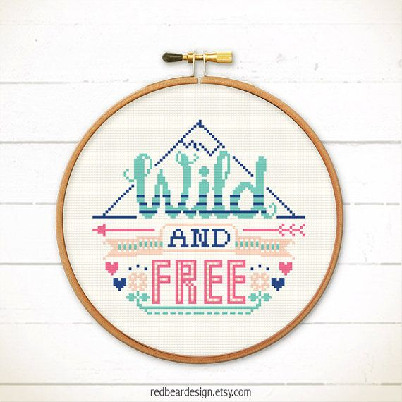 Funny Quote Cross stitch pattern PDF  Wild And by redbeardesign - http://etsy.me/1P3YetH