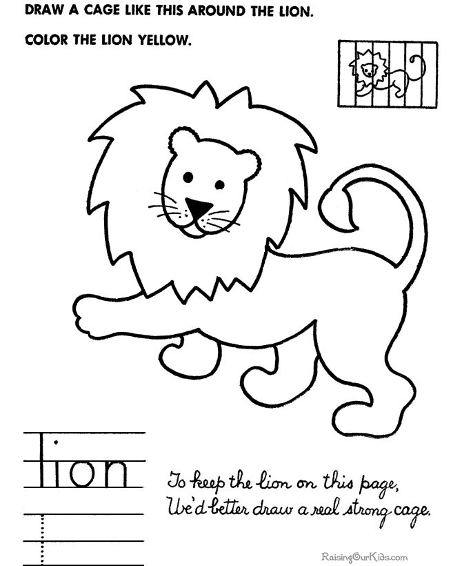 simple drawings for kids how to draw lion - Simple Drawing For Toddlers