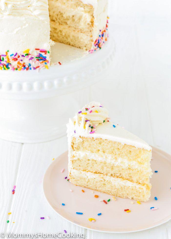 Peachy Eggless Vanilla Cake Recipe Eggless Vanilla Cake Recipe Personalised Birthday Cards Arneslily Jamesorg