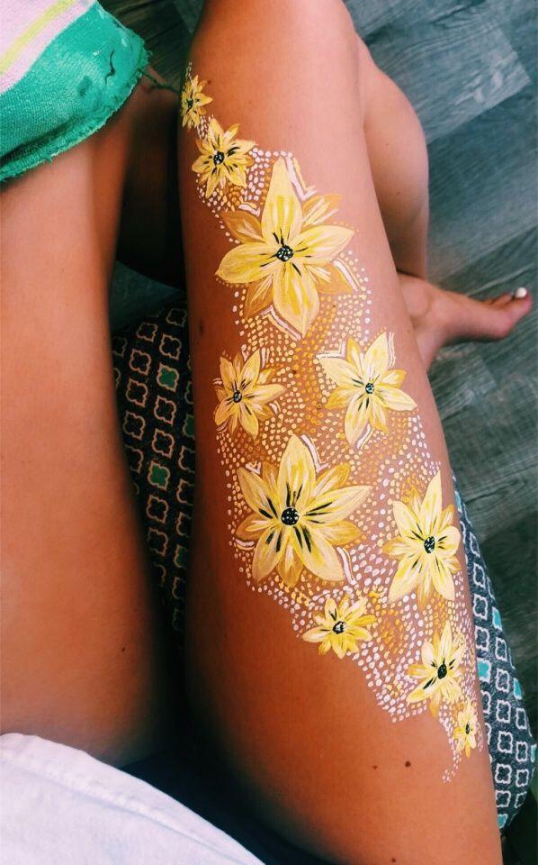 Pin By Hanah Bergman On Body Art Body Art Painting Leg Art