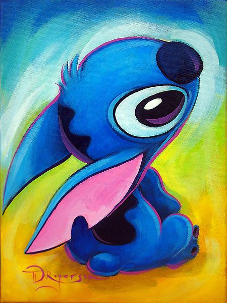 Tim Rogerson - Lilo and Stitch - Looking Up To Lilo - Original - world-wide-art.com
