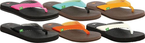 Sanuk Yoga Mat Flip Flops - these are supposed to be super comfy and look so cute - they even have zebra stripped ones!! :)