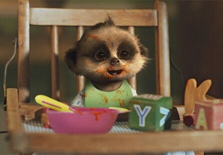 Baby Oleg eats curry