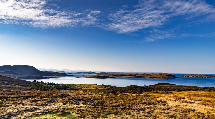 https://flic.kr/p/A2Xb9k   Overlooking the Summer Isles   Overlooking the Summer Isles. The glorious weather certainly makes this viewpoint a thousand times better allowing you to see the island and mountains in the distance. This photograph was taken on the West Coast of Scotland in the hills above Altandhu.