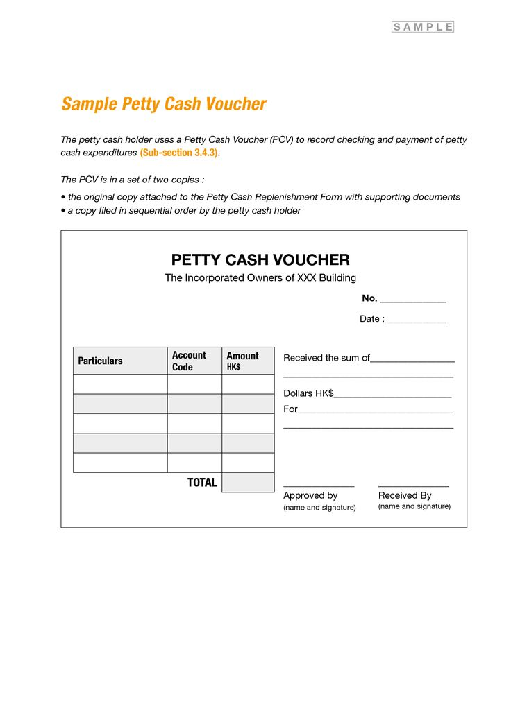17 Best images about Forms – Petty Cash Receipt Template
