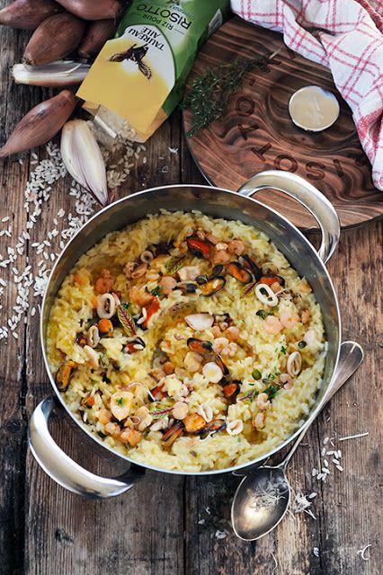 Dorian cuisine.com Mais pourquoi est-ce que je vous raconte ça... : Mon risotto aux fruits de mer! Et si la vérité du risotto se trouvait dans... Petites astuces et tutti quanti...
