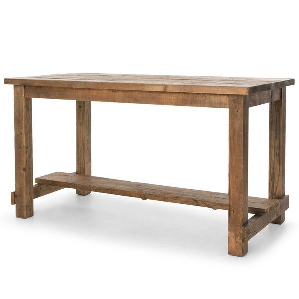 Lundin Rustic Lodge Reclaimed Bleached Pine Dining Bar Table ( 3 d8d1c3edae
