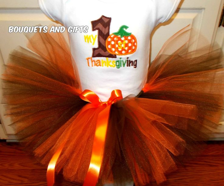 Baby Girl Thanksgiving Outfit, Girl 1st Thanksgiving Outfit, Thanksgiving Tutu Set, My First Thanksgiving Tutu Set, by BouquetsandGifts on Etsy https://www.etsy.com/listing/202669546/baby-girl-thanksgiving-outfit-girl-1st