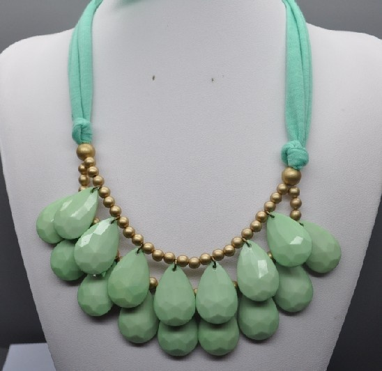 Image of Teardrop Necklace: Mint Green