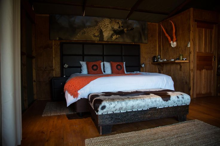 ORANGE BEDROOM  HOLIDAYS in SOUTH AFRICA by DIMA BUSH CAMP Accomodation