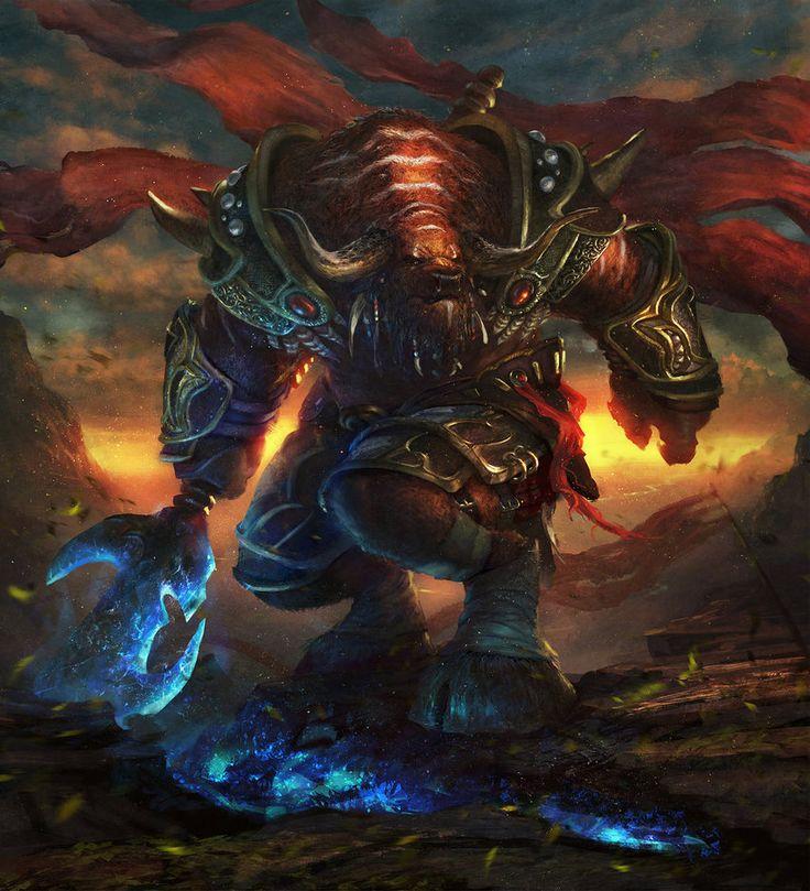 Tauren warrior by Grosnez