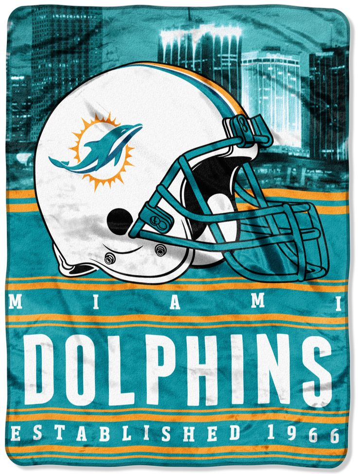 NFL Dolphins Stacked Throw Nfl miami dolphins, Dolphins
