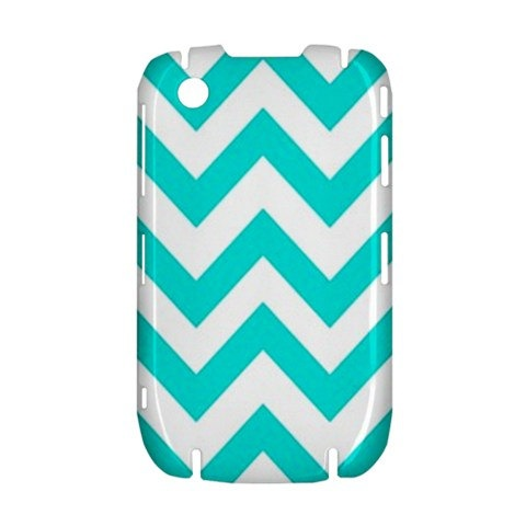 NEW Blue Chevron Pattern BlackBerry Curve 8520 9300 Hardshell Case Cover BB Curve 8520 9300 Case - Available for other type of BB
