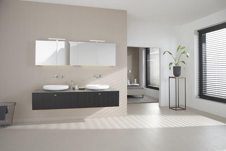 Badkamermeubel met waskommen 200 cm - Solid X van Thebalux