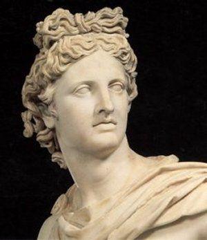 Apollon er måske gud for det, man ikke selv ved og ikke selv kan. Han er gud for spådomskunst, for musik, litteratur og desuden for lægekunst. Hans kendetegn er ungdom - altid skæg og langt hår, som unge mænd har det. Han er en stor bueskytte og ses ofte med bue og pil; men også ofte en lyre i hånden. Apollon er søn af Zeus og Leto, en noget farveløs gudinde. Apollon står Zeus meget nær, og han har også fået plads midt på vestgavlen på Zeustemplet i Olympia.