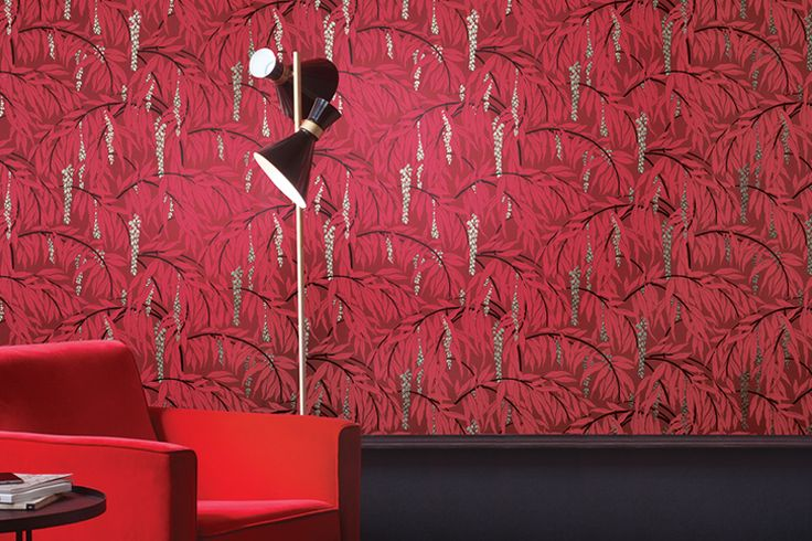 Festive Wallpaper. Christmas Walldecoration. Gatsby. Art Deco Wallpaper. Khroma. Wirz Tapeten AG