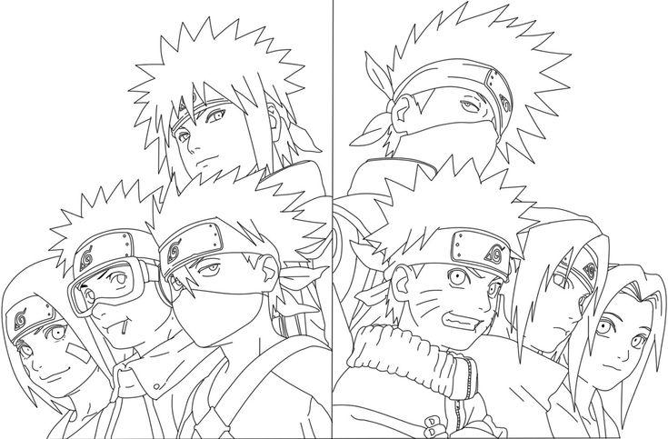 Complete Artbook Naruto Line By Https Www Deviantart Com Kenshiuchiha On Deviantart Naruto Painting Manga Coloring Book Naruto Sketch