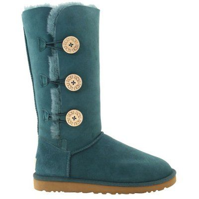UGG Bailey Button Triplet Boots 1873 Deep Atlantic $120.99