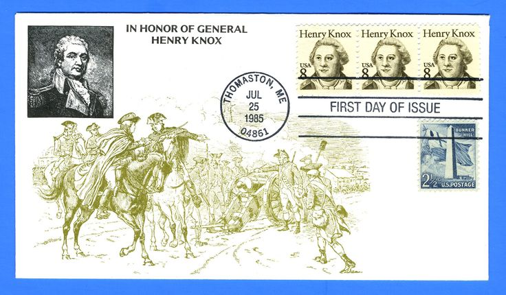 Scott 1885 8c General Henry Knox Combo First Day Cover by KMC Venture