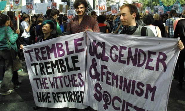 TREMBLE TREMBLE THE WITCHES HAVE RETURNED! Is 'lad culture' causing a surge in student feminist societies? @ The Guardian