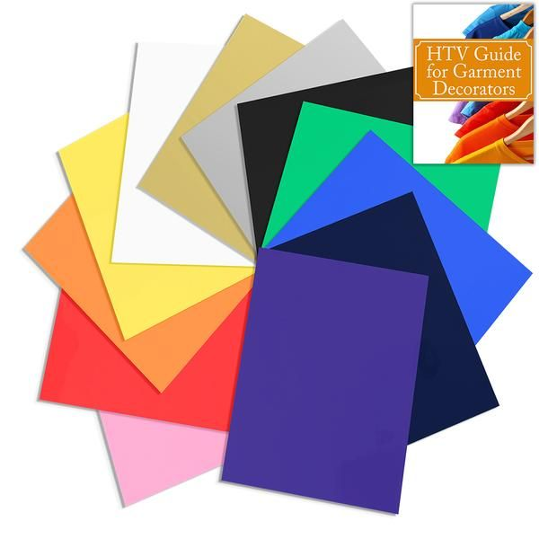 Siser Easyweed Heat Transfer Assorted Pack 12 12 In X 15 In Sheet Starter Bundle With Guide Swing Design Siser Easyweed Siser Heat Transfer Vinyl