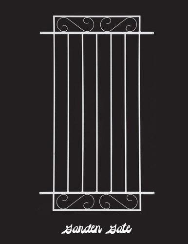 Garden Gate Style Decorative Aluminum Door Grille install easily on any standard screen door.