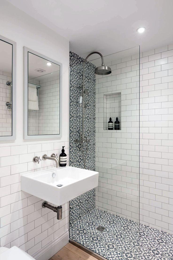 15 Bathrooms With Amazing Tile Flooring | Small bathroom ...