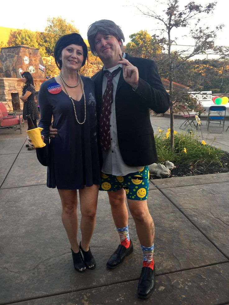 Couples Costume! Bill and Monica, 90's party, Clinton Gore, Hilary, Lewinsky, halloween...