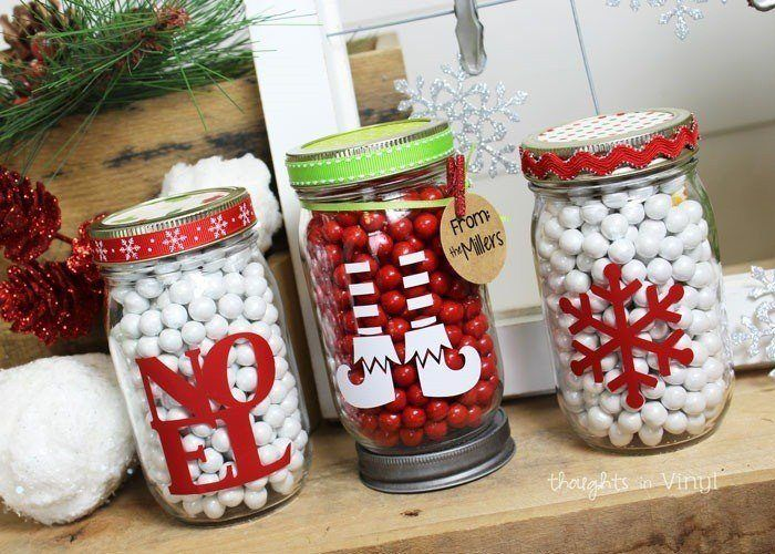 Christmas Bunch Mason Jar Decals Mason Jar Christmas Gifts Mason Jar Diy Christmas Jar Gifts
