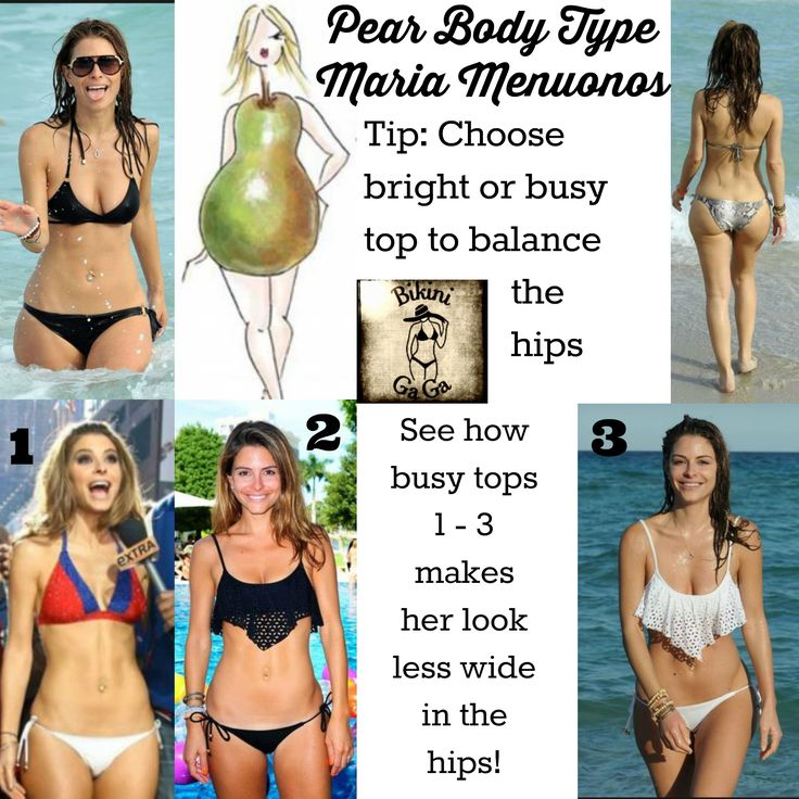 #Pear Body type tip. #Maria Menounos is a great example of how you can create more balance with the right bikini top.