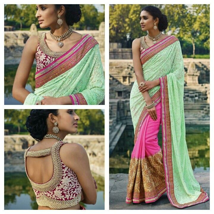 Heavy work premium range Exclusive Designer #Saree with awesome #blouse work  just for this #festive season #EID D no MN 3410 Price 209 us$ Free shipping worldwide  Buy at www. Jsdeal. Com Whatsapp at +91 9650506590