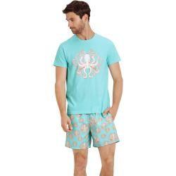 Herren Ready to Wear - Octopussy T-Shirt aus Baumwolle für Herren - T-shirt - Tao - Blau - M - Vileb