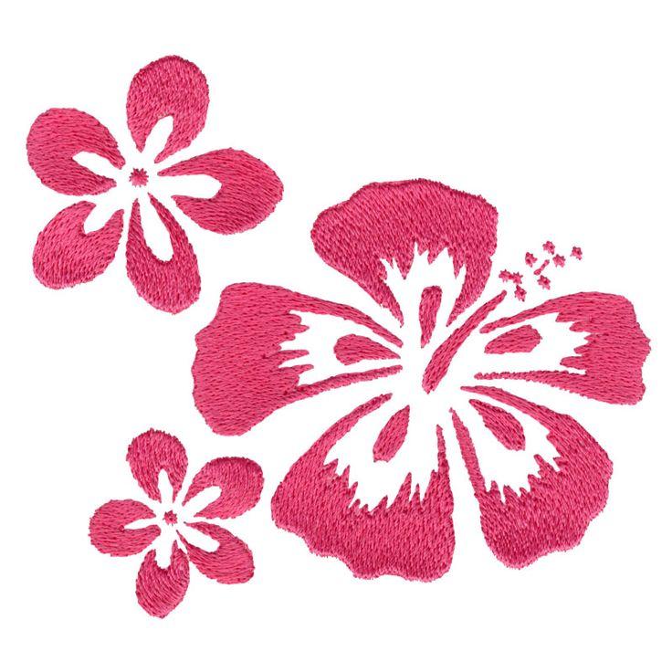 Free Embroidery Design: Aloha Flowers