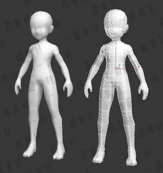 3D模型游戏裸模合集 基础人物角色低模游戏美术素材 3dsmax-淘宝网全球站
