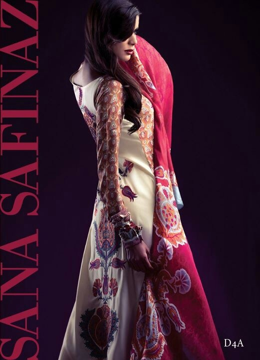 Boski silk suit with back embroidery. Cotton silk shalwar. Pure silk dupatta & silk sleeves. $155 (un stitched) #SanaSafinaz