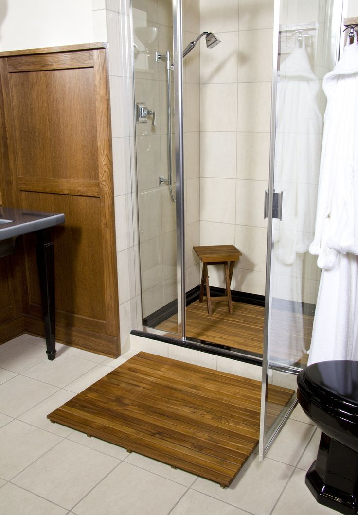 Teak Bath Mats Are Great Inside Or Outside The Shower By