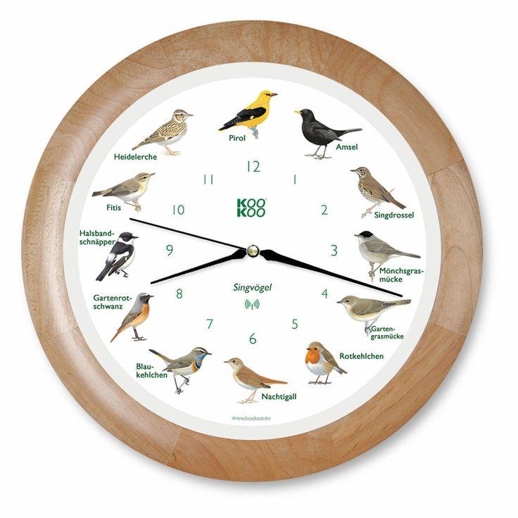 Vogelstimmen-Funkwanduhr | 3 Jahre Garantie | Pro-Idee