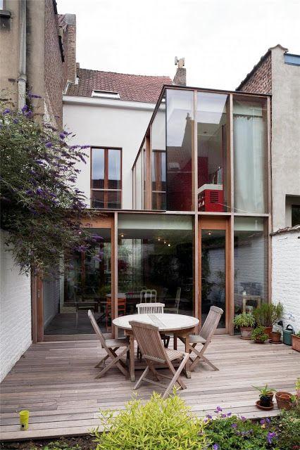 Extension d'une maison classique, Bruxelles, Belgique — by Ledroit - Pierret - Polet