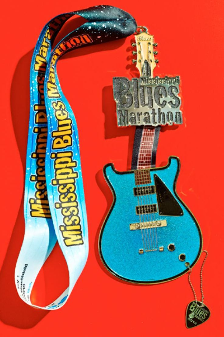 Mississippi Blues Marathon http://www.runnersworld.com/races/the-coolest-race-medals/mississippi-blues-marathon