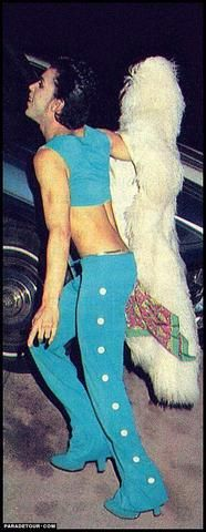 Classic Prince | 1986 Parade + UTCM era in rare turquoise Kiss outfit! And the coat is the one he uses in the Sign O The Times era.