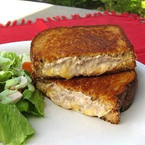 Tuna melt with cream cheese. Have to try this.