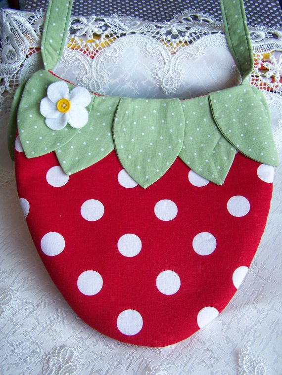 Adorable Red Strawberry Purse by sweetjeanette on Etsy