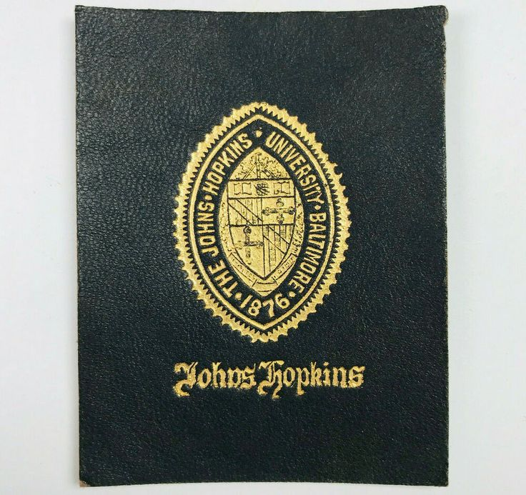 Johns Hopkins University Baltimore Tobacco Leather Patch