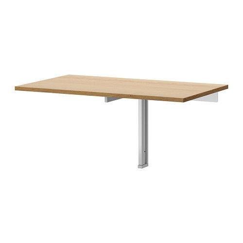 BJURSTA Wall-mounted drop-leaf table, oak veneer