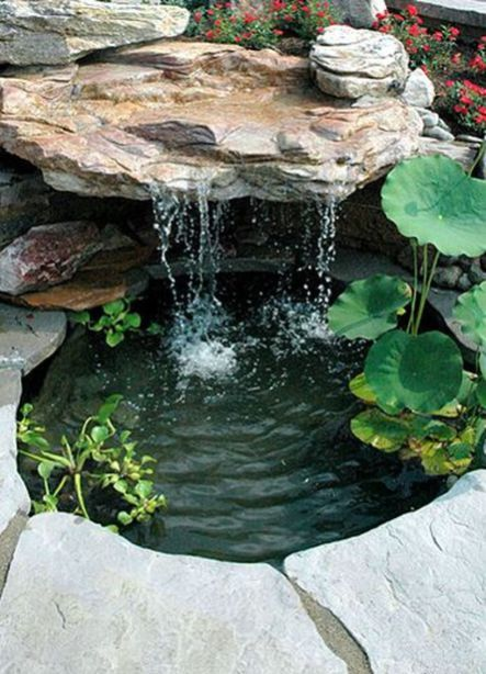 Small Waterfall Pond Landscaping For Backyard Decor Ideas 1