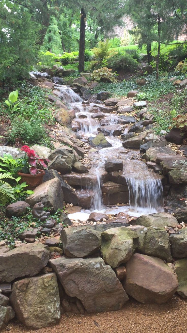 1000 images about backyard ravine and ideals for it on for Garden waterfall