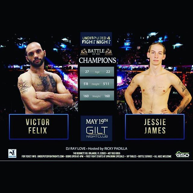 Victor Felix Will Face Jesse James From Tennessee Now Fighting Out Of Kissimmee Boxing Gym These Two Fighters Need A Boxing Classes Boxing Gym Boxing Trainers
