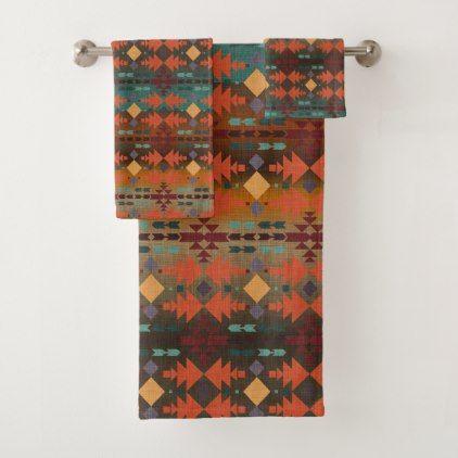 Southwestern Sunset | Beautiful Bath Towel Set  $53.92  by Cheries_Art  - cyo diy customize personalize unique